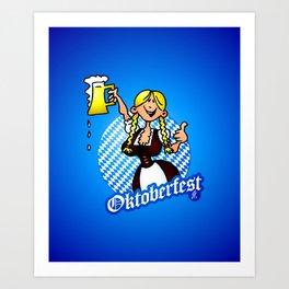 Oktoberfest - girl in a dirndl Art Print
