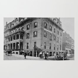 Downtown Ticonderoga Panorama circa 1913 Rug