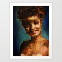 laura palmer Art Prints featuring Who Pixelated Laura Palmer :; Twin Peaks by Kristin Frenzel