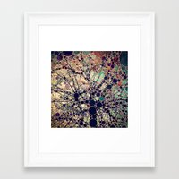apple Framed Art Prints featuring Colorful tree loves you and me. by Love2Snap