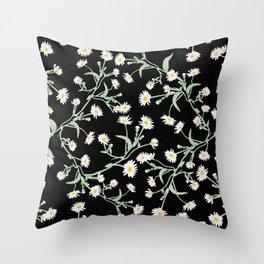 Oxeye (Black) Throw Pillow