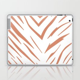 Gold design Exotic lines on white Laptop & iPad Skin