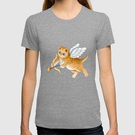 Ginger Cherub Kitten With a Bow and an Arrow T-shirt
