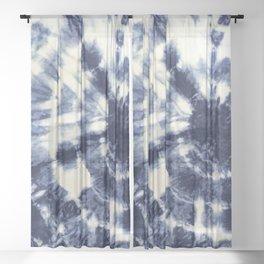 Indigo I Sheer Curtain