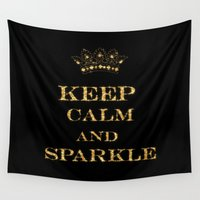 keep calm Wall Tapestries featuring Keep calm by UtArt