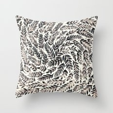 Black Branches Throw Pillow