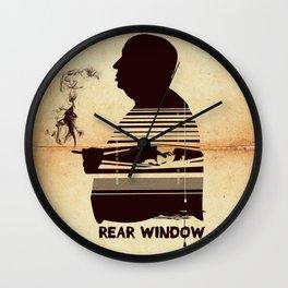 Rear Window Hitchcock silhouette art Wall Clock