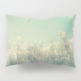 Cotton Candy Wildflowers, Baby Blue Sky Pillow Sham