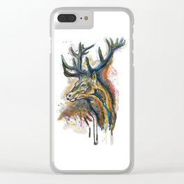 Elk Head Clear iPhone Case