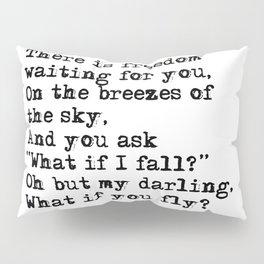 What if you fly? Vintage typewritten Pillow Sham
