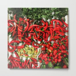 So Many Chiles... Metal Print