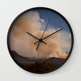 Cedar City Forest Fire - II Wall Clock