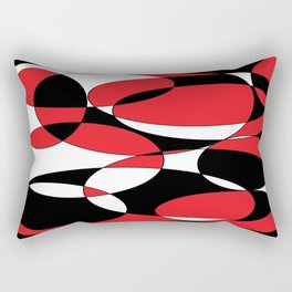 Black, white and red ellipticals Rectangular Pillow