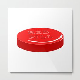 Red Pill Metal Print