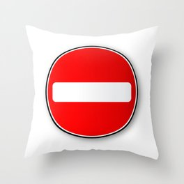 No Traffic Entry Throw Pillow