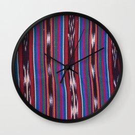 Guatemala - Tipica Fabric Rockslide Wall Clock