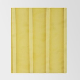 Urban Wood - Canary Yellow Throw Blanket
