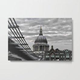 St.Paul's Cathedral in monochrome Metal Print