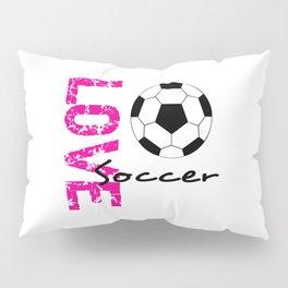 LOVE Soccer Pillow Sham