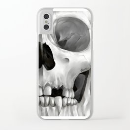 Skull 10 Clear iPhone Case