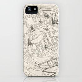 Vintage Groningen Netherlands Map (1594) iPhone Case