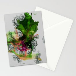 Green Ruin Stationery Cards