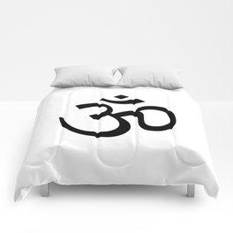 Om Black & White Comforters