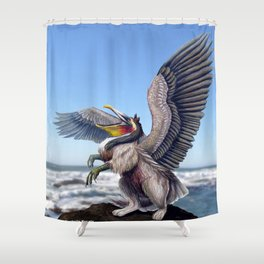 Pelican Gryphon Shower Curtain