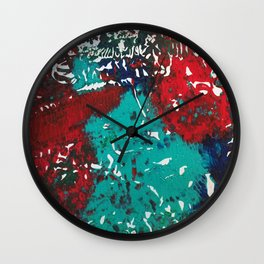 Abstracted Wolf and Kitten Wall Clock