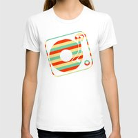 record T-shirts featuring Retro Record by Sabrina