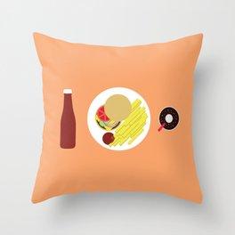 Ketchup Meal Throw Pillow