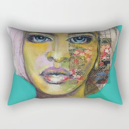Bea Turquoise Rectangular Pillow