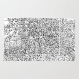 Vintage Map of Berlin Germany (1877) BW Rug