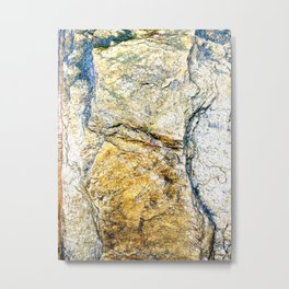 Digital Stone Metal Print