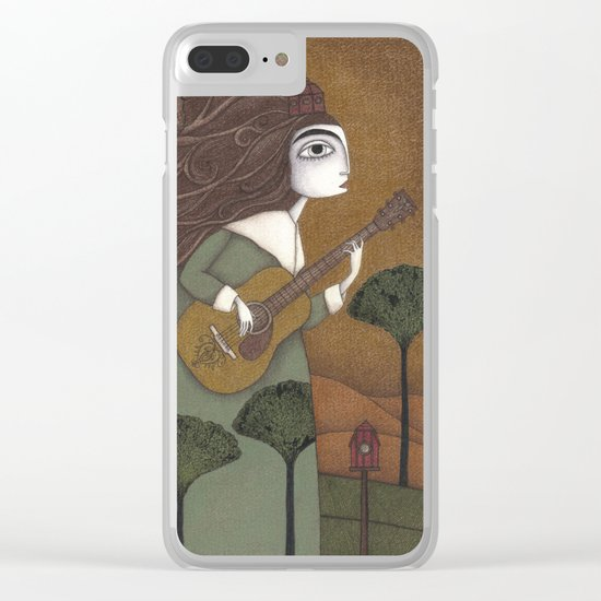 The Guitar Player Clear iPhone Case