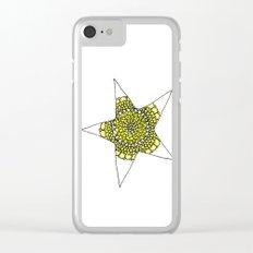 Yellow Superstar Mandala Star Clear iPhone Case