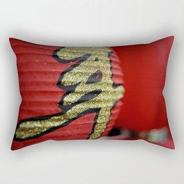 Red Chinese lanterns Rectangular Pillow