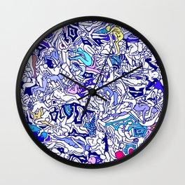 Kamasutra LOVE - Indigo Blue Wall Clock