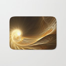 Golden Spiral Bath Mat