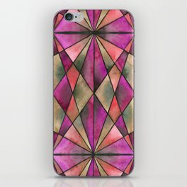 Stained Glass - Magenta iPhone Skin
