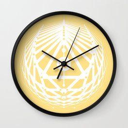 Radiant Abundance (light yellow-white) Wall Clock
