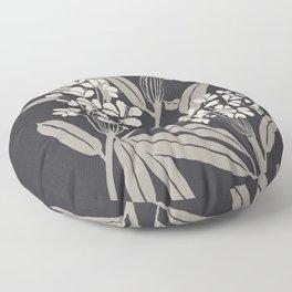Boho Botanica Black Floor Pillow
