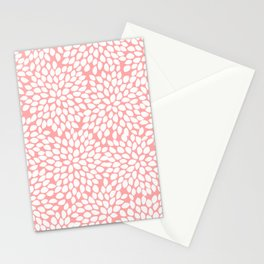 White Floral Pattern on Coral - Mix & Match with Simplicity of Life Stationery Cards