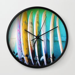 surfboards Wall Clock