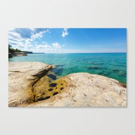 The Coves on Lake Superior - Pictured Rocks Canvas Print
