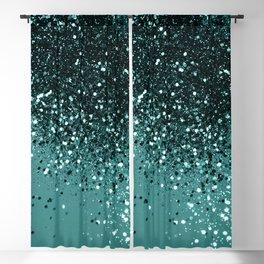 Teal Mermaid Ocean Glitter #3 #shiny #decor #art #society6 Blackout Curtain
