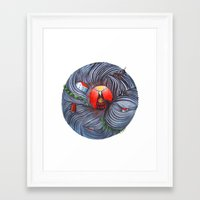 evil Framed Art Prints featuring Evil by Valentina Gruer