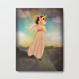 Pinkie Unicorn Metal Print