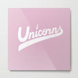 Unicorns Pink Metal Print