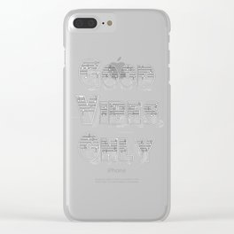 Good Vibes Only tipography design Clear iPhone Case